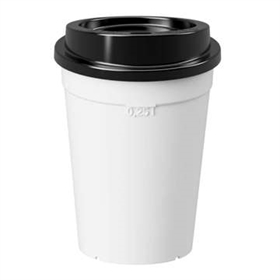 Coffee to go: hvid inkl. sort låg